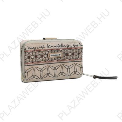 Kimmidoll pénztárca 30620 beige, patentos, cipzáras (30629-09BEI)