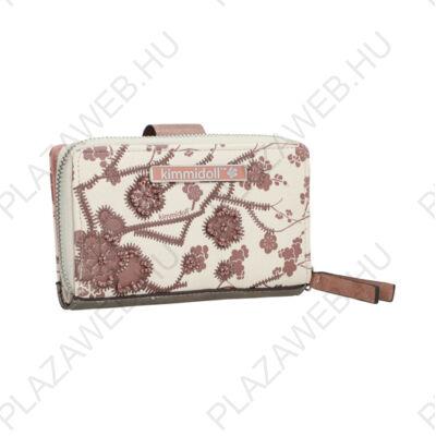 Kimmidoll pénztárca 30660 nude, patentos, cipzáras (30669-09NUD)