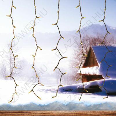 DekorTrend Kültéri Fényfüggöny, meleg fehér, 1,5x1,5 m, átlátszó kábel kábel, 198 LED (KDL 142)
