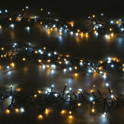 DekorTrend Jin-Jang Fénygirland, 500 meleg és hideg fehér LED-ek, fekete kábel, 5 méter (KDC 530)