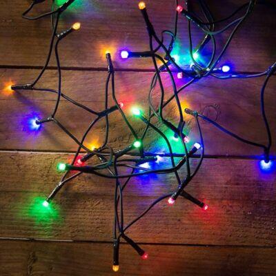 DekorTrend Beltéri LED Fényfüzér 120 db SZÍNES 9,6 méter KDL 125