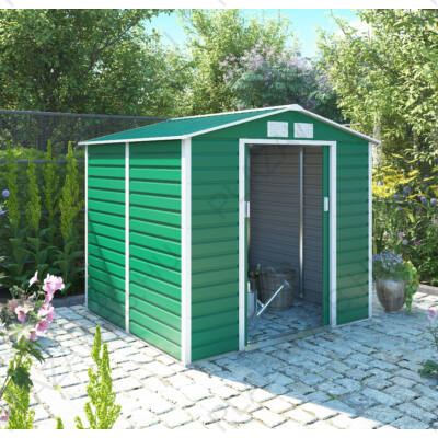 G21 GAH 407 - 213 x 191 cm-es kerti fém ház, zöld