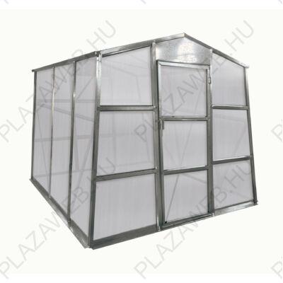Üvegház G21 GZ 48 - 251 x 191 cm, galvanizált, alapzattal (63900622)