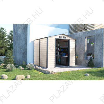 G21 GAH 407 - 213 x 191 cm-es kerti fém ház, bézs és szürke (6390063)