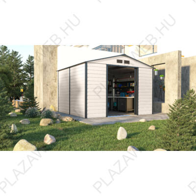 G21 GAH 706 - 277 x 255 cm-es kerti fém ház, bézs és szürke (6390065)