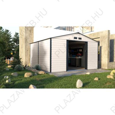G21 GAH 1085 - 340 x 319 cm-es kerti fém ház, bézs és szürke (6390067)