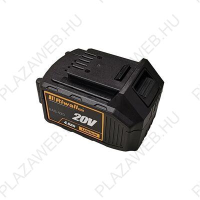 Riwall PRO RAB 420 -20V Li-Ion akkumulátor 4Ah  (RACC00079)