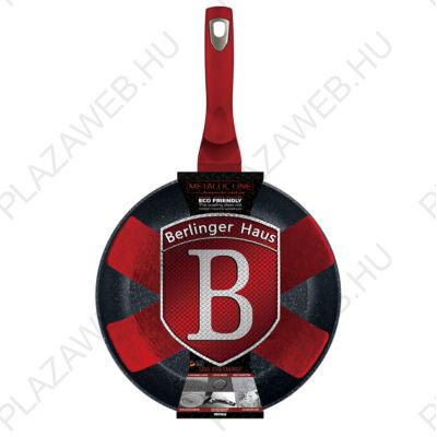 BERLINGER HAUS BH-1252N  Serpenyő, 24 cm, , Metallic Line Burgundy Edition AJÁNDÉK ALÁTÉT