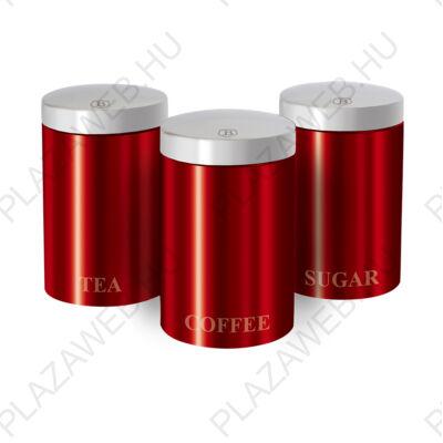 BERLINGER HAUS BH-1343  3 részes tárolókészlet, RM, piros, Passion Collection