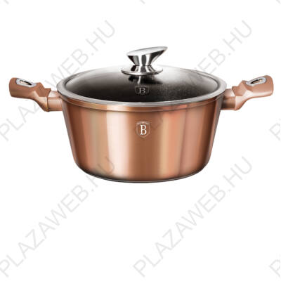 BERLINGER HAUS BH-1516N  Edény fedővel 28 cm, Rosegold Collection