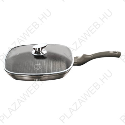 BERLINGER HAUS BH-1614N  Grill serpenyő 28 cm, Carbon Metallic Line