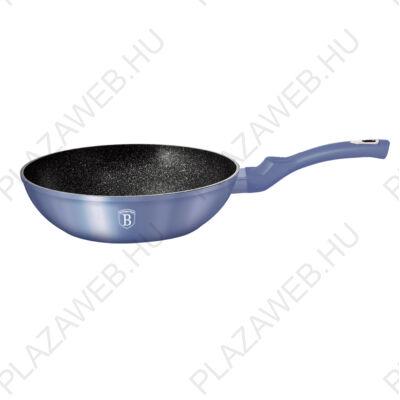 BERLINGER HAUS BH-1651N  Wok, 28 cm, Metallic Line Royal Blue Edition AJÁNDÉK ALÁTÉT