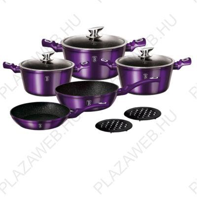 BERLINGER HAUS BH-1661N-2  10 részes edénykészlet, Metallic Line Royal Purple Edition