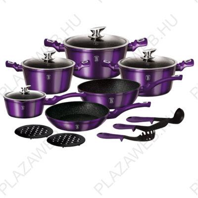BERLINGER HAUS BH-1662N-2  15 részes edénykészlet, Metallic Line Royal Purple Edition
