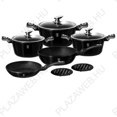 BERLINGER HAUS BH-1663N  10 részes edénykészlet, Metallic Line Royal Black Edition