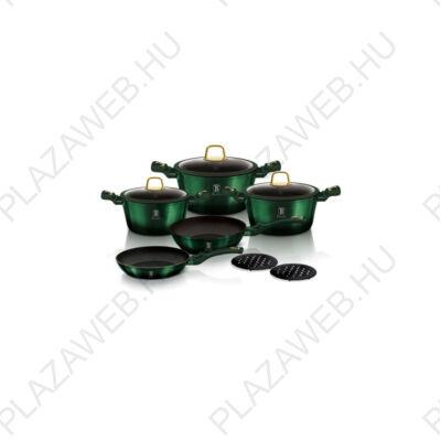 Berlinger Haus Emerald Collection 10 részes edénykészlet titán bevonattal, smaragdzöld metál (BH/6065)