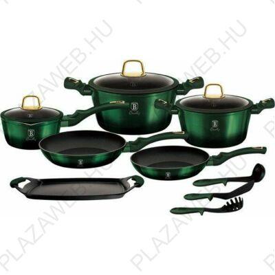 Berlinger Haus Emerald Collection 12 részes edénykészlet titán bevonattal, smaragdzöld metál (BH/6066)
