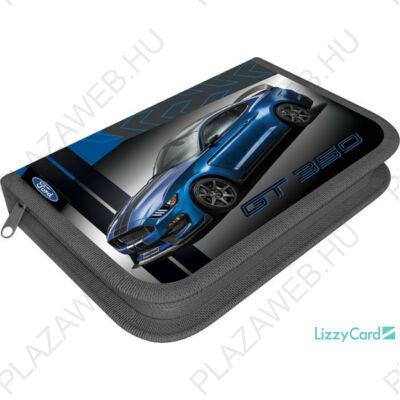 Autós tolltartó, klapnis, üres, 19x13x4cm, Ford Mustang blue