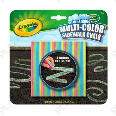 Crayola többszínű aszfaltkréta, 5db-os