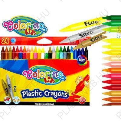 Colorino plastic zsírkréta készlet, hegyezhető, 24db-os