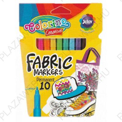 Colorino Creative textilfilc készlet, 10db-os