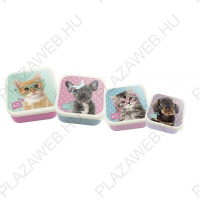 Studio Pets uzsonnás doboz szett, 13,5x6x13,5cm, 4db/szett