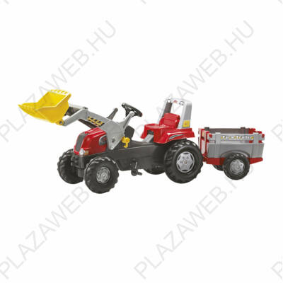 Rolly Junior pedálos markolós traktor utánfutóval (RO-811397)