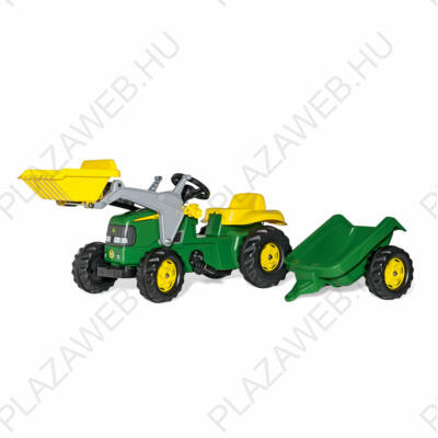 Rolly Kid John Deere pedálos markolós traktor utánfutóval (RO-023110)