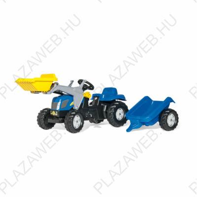 Rolly Kid New Holland T 7040 pedálos markolós traktor utánfutóval (RO-023929)
